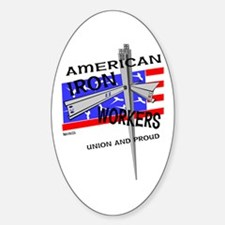 AMERICAN IRON WORKERS Oval Decal