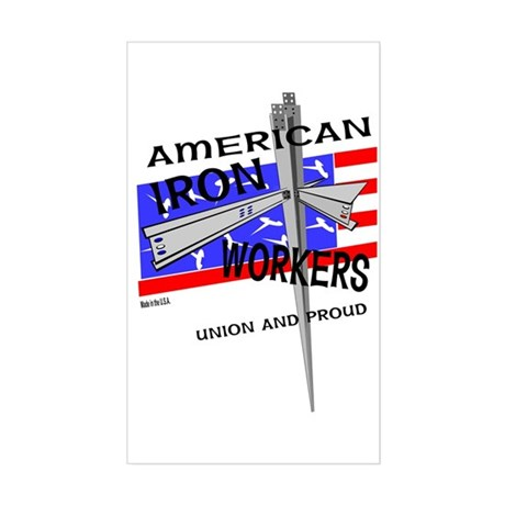 AMERICAN IRON WORKERS Rectangle Sticker