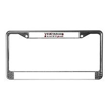 Funny Tofu License Plate Frame