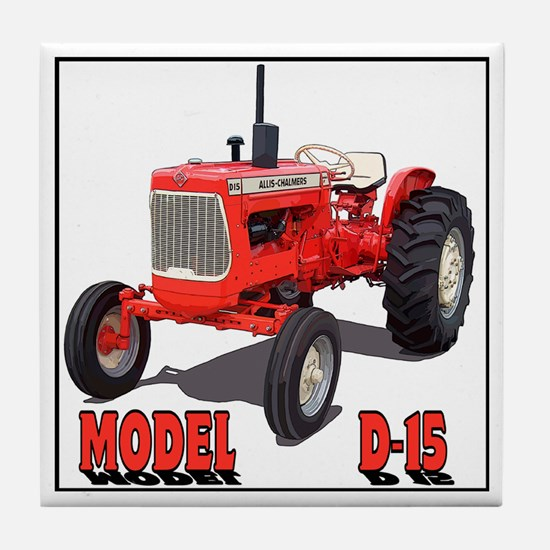 Funny Tractor pulling Tile Coaster