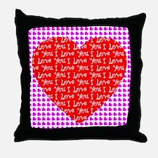 I Love You Heart Throw Pillow
