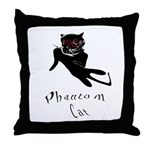 Phantom Cat Throw Pillow