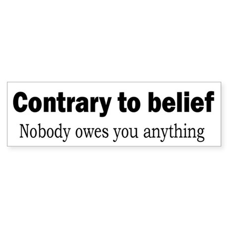 Sticker - Nobody Owes You Anything