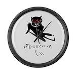 Phantom Cat Large Wall Clock