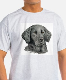 Flat-Coated Retriever Ash Grey T-Shirt