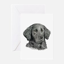Flat-Coated Retriever Greeting Cards (Pk of 10