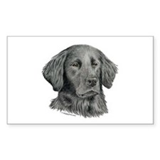 Flat-Coated Retriever Rectangle Decal