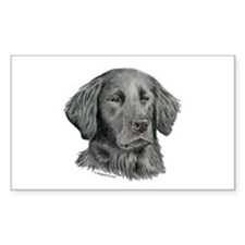 Flat-Coated Retriever Rectangle Stickers