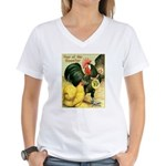 Year Of The Rooster2 Women's V-Neck T-Shirt