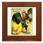 Year Of The Rooster2 Framed Tile