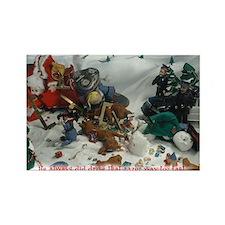 Cute Santa's elves Rectangle Magnet
