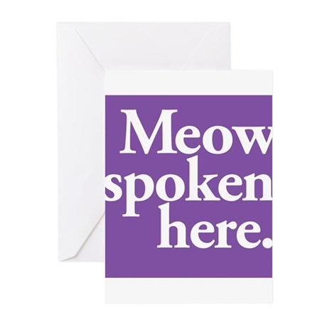 Cat Speak Greeting Cards (Pk of 10)