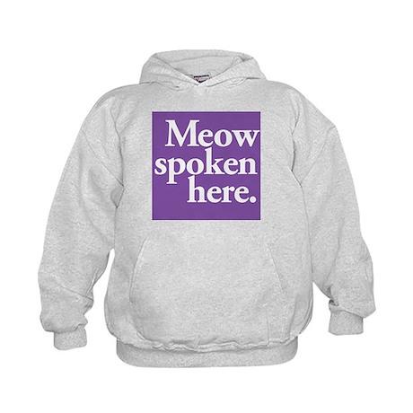 Cat Speak Kids Hoodie