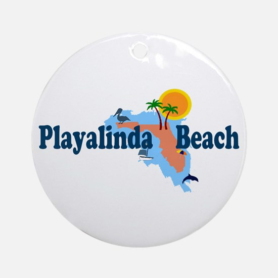 Playalinda Beach FL Ornament (Round)