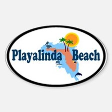 Playalinda Beach FL Oval Decal