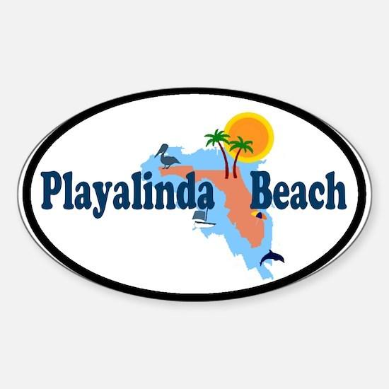 Playalinda Beach FL Oval Decal