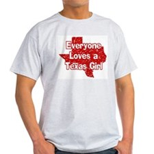 Texas Girl Ash Grey T-Shirt