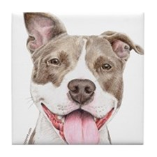 Pitbull terrier Tile Coaster