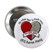 """Welcome Home Aaron 2.25"""" Button"""