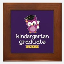 Kindergarten Grad 2017 Framed Tile