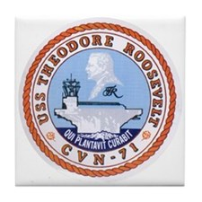 USS Theodore Roosevelt CVN 71 US Navy Ship Tile Co