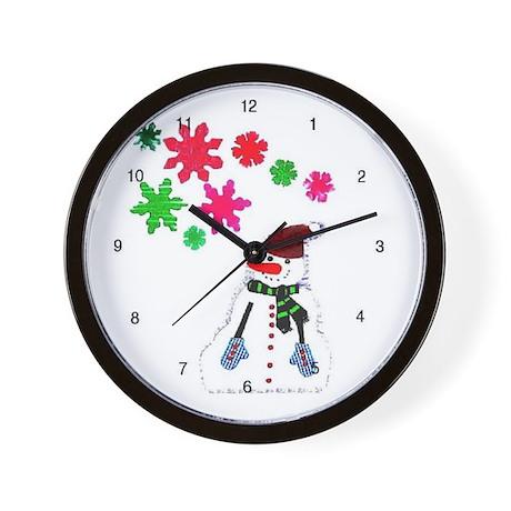 snowflake man Wall Clock