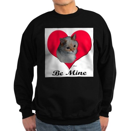 Kekoe the cat's Valentine Sweatshirt (dark)
