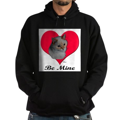 Kekoe the cat's Valentine Hoodie (dark)