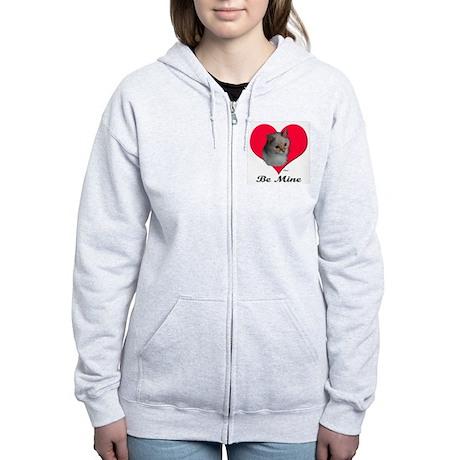 Kekoe the Cat's Valentine Women's Zip Hoodie