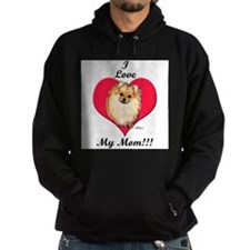 Wicket the Pom Loves Mom Hoodie