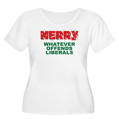 Merry Whatever Offends Liberals Women's Plus Size