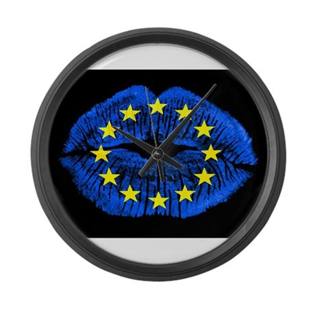 European Kiss Large Wall Clock