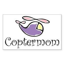 Copter Mom Rectangle Decal