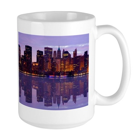 Manhattan Cityscape Reflectio Large Mug