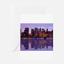 Manhattan Cityscape Reflectio Greeting Card