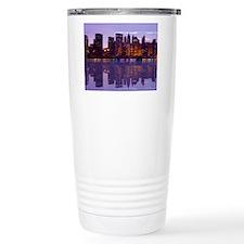 Manhattan Cityscape Reflectio Travel Mug