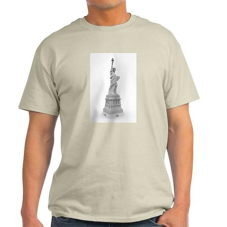 Statue of Liberty B&W Illustr Light T-Shirt
