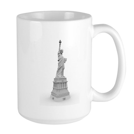 Statue of Liberty B&W Illustr Large Mug