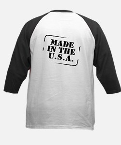 Made USA (font and back) Kids Baseball Jersey