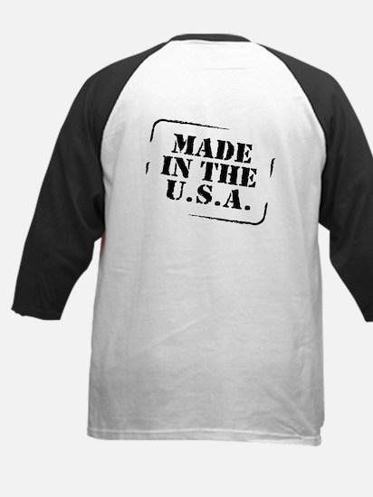 Made USA (font and back) Kids Baseball Jersey