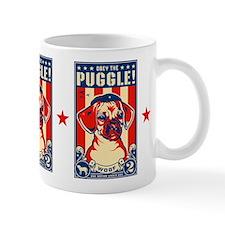 Obey the PUGGLE! USA coffee Small Mug