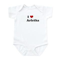 I Love Arletha Infant Bodysuit