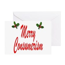 Merry Consumerism Greeting Card