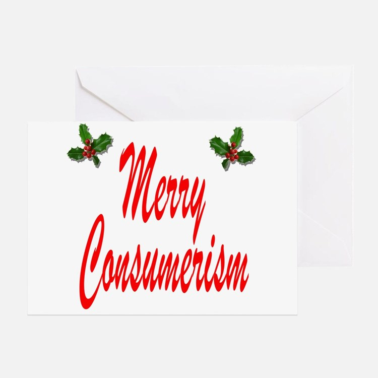 Merry Consumerism Greeting Card