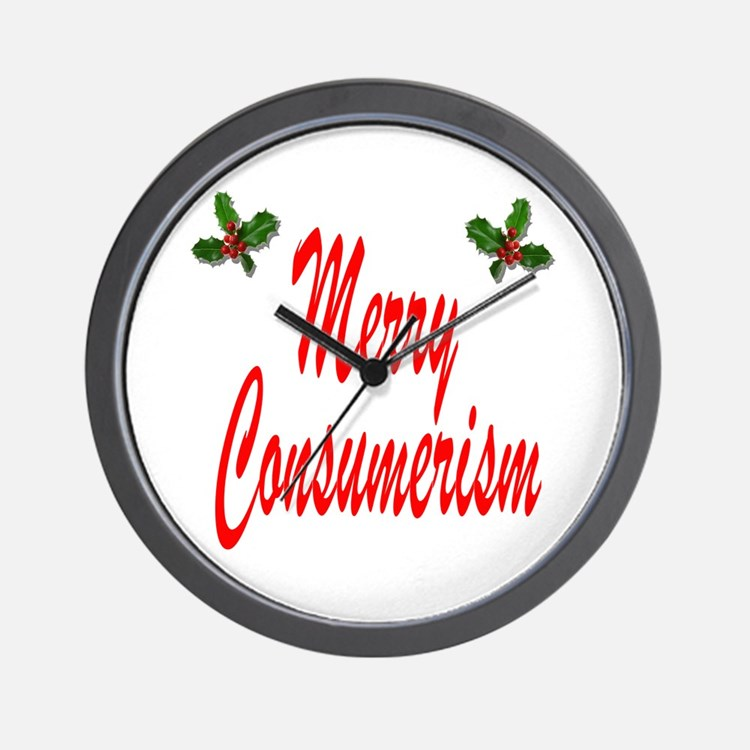 Merry Consumerism Wall Clock