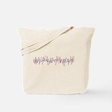 Sound Waves Tote Bag