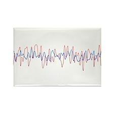 Sound Waves Rectangle Magnet