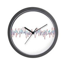 Sound Waves Wall Clock