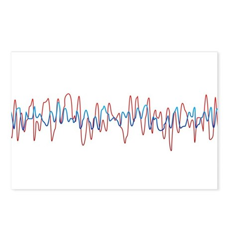 Sound Waves Postcards (Package of 8)