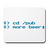 Beer Programmer Mousepad
